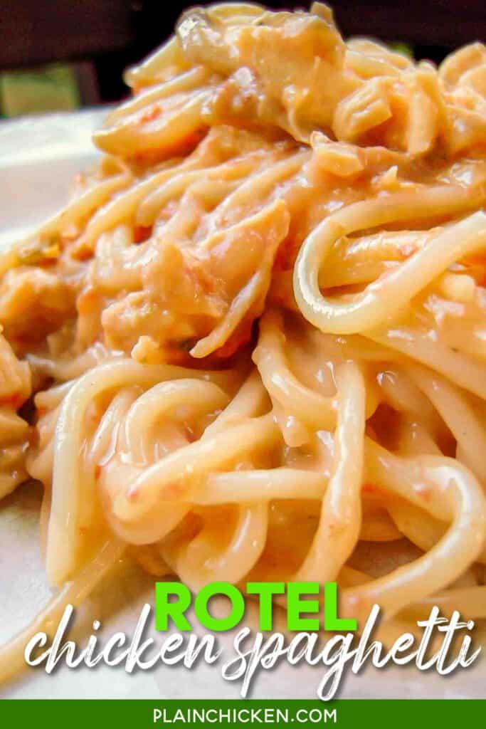plate of rotel spaghetti