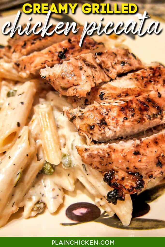 plate of chicken and pasta