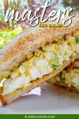 egg salad sandwich on toast