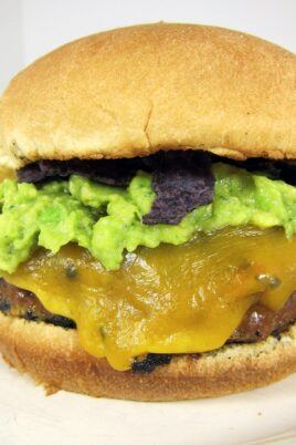 burger with guacamole