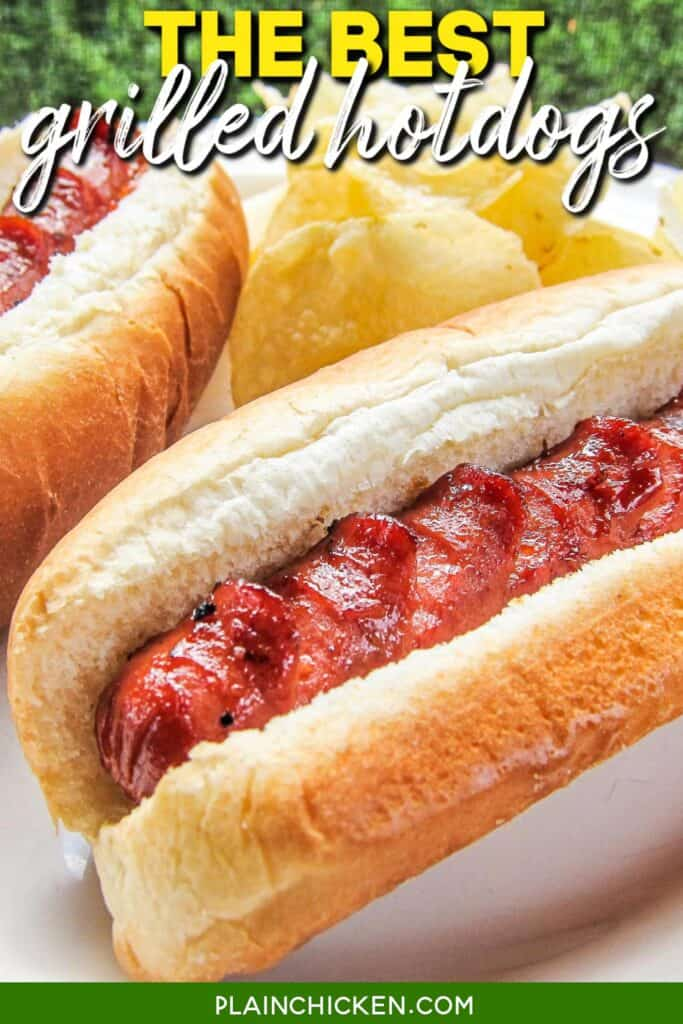 plate of hotdogs