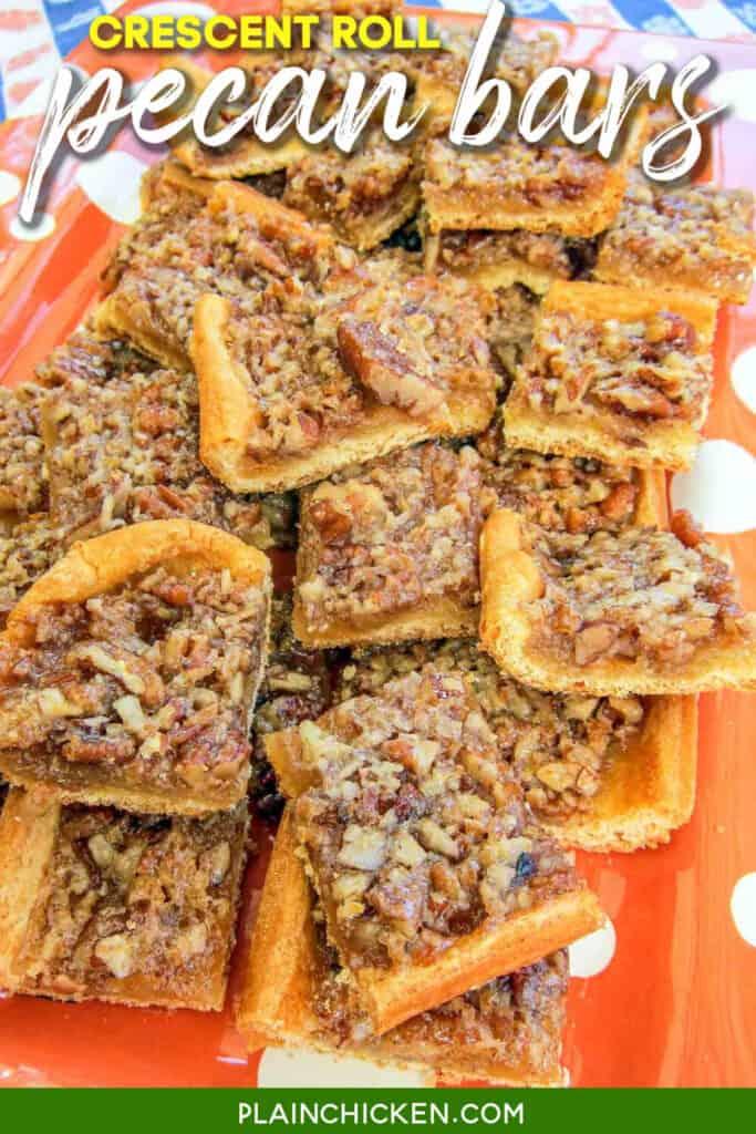 crescent roll pecan pie bars