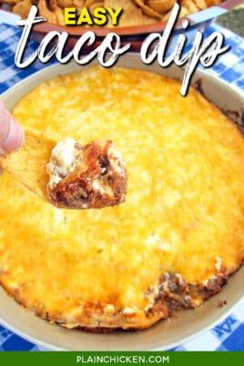 frito scoop of cheesy taco dip