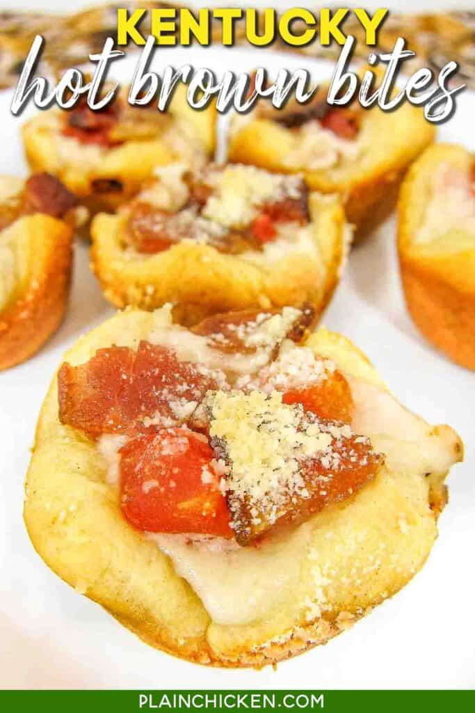 plate of KY Hot Brown bites