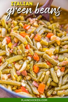 dutch oven of italian green beans