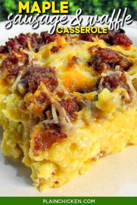 sausage and waffle breakfast casserole