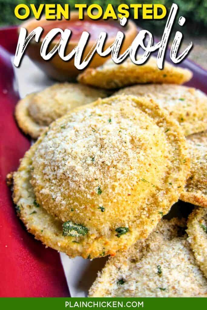 platter of toasted ravioli
