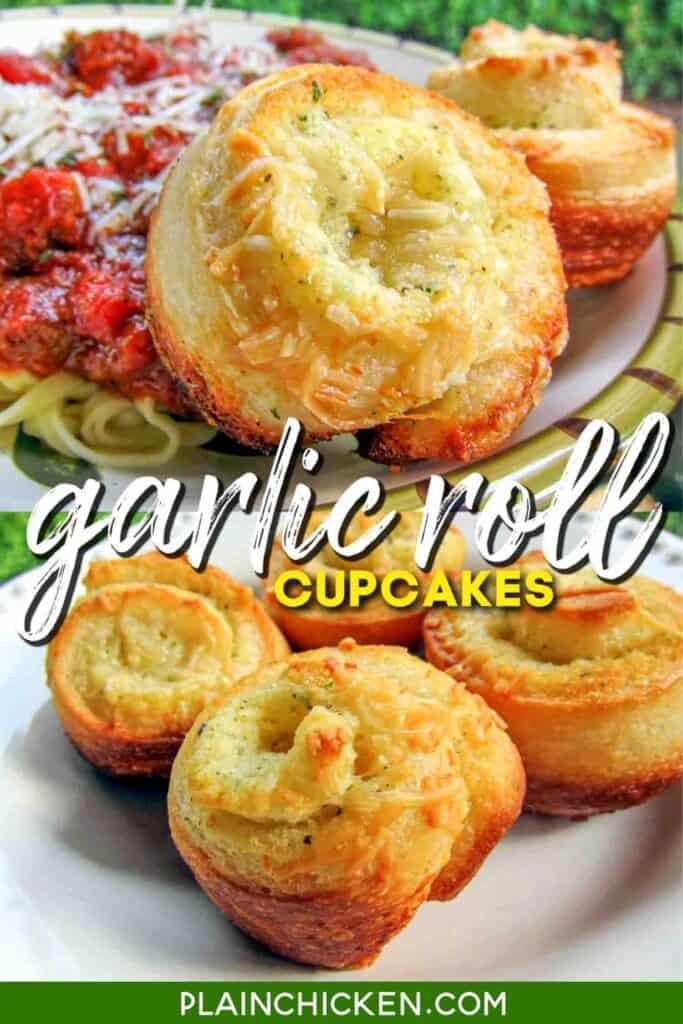 plate of garlic rolls
