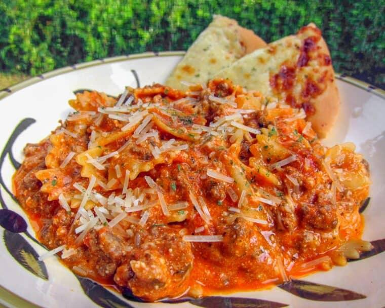 bowl of lasagna pasta