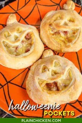 jack-o-lantern biscuit sandwiches