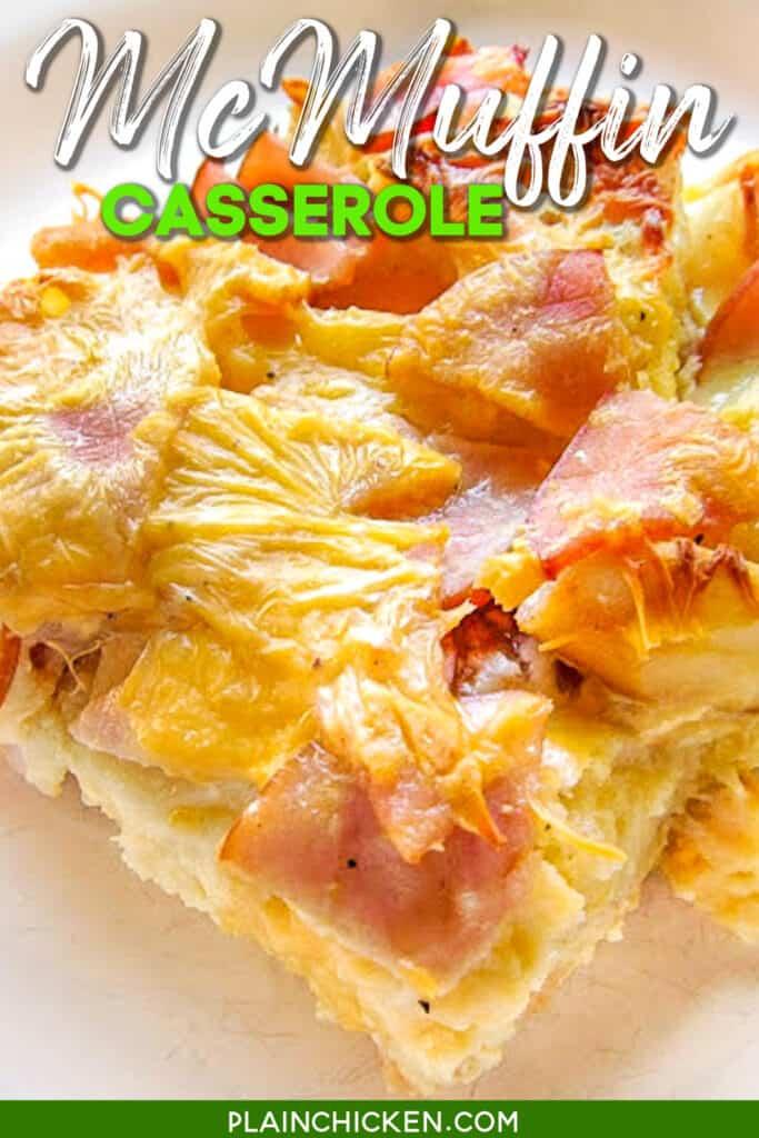 slice of mcmuffin casserole