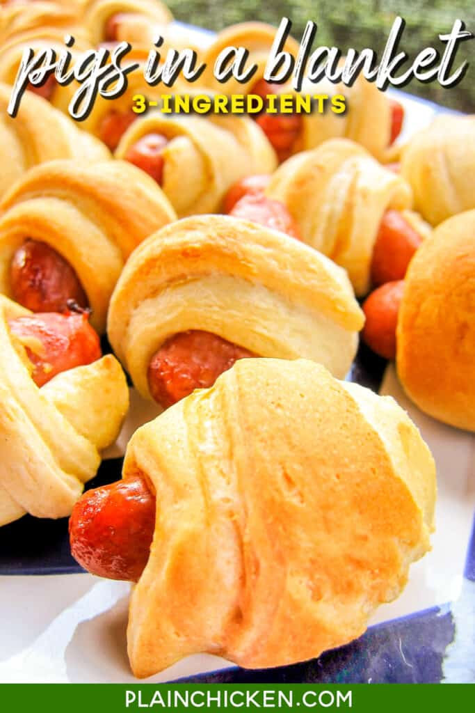 platter of pigs in a blanket