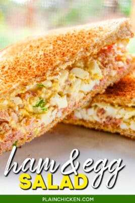 ham & egg salad sandwiches
