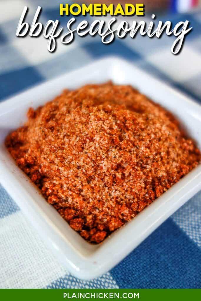 small dish of homemade seasoning