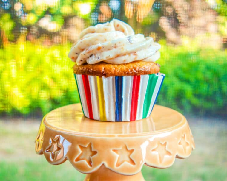 cupcake on a pedestal
