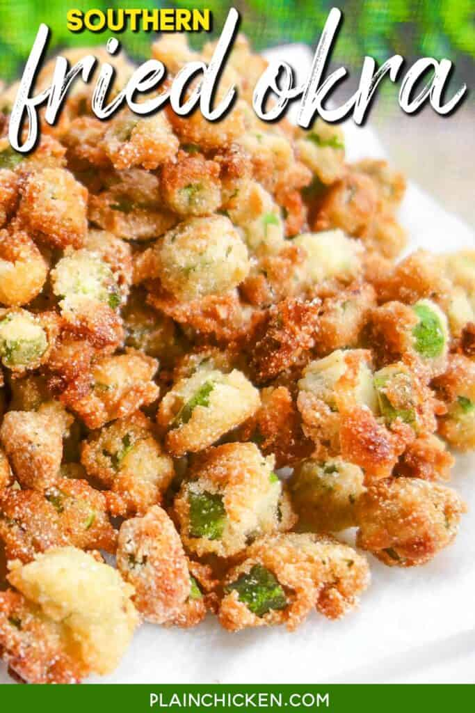 plate of southern fried okra