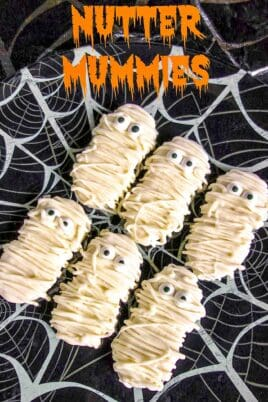 plate of nutter butter mummies