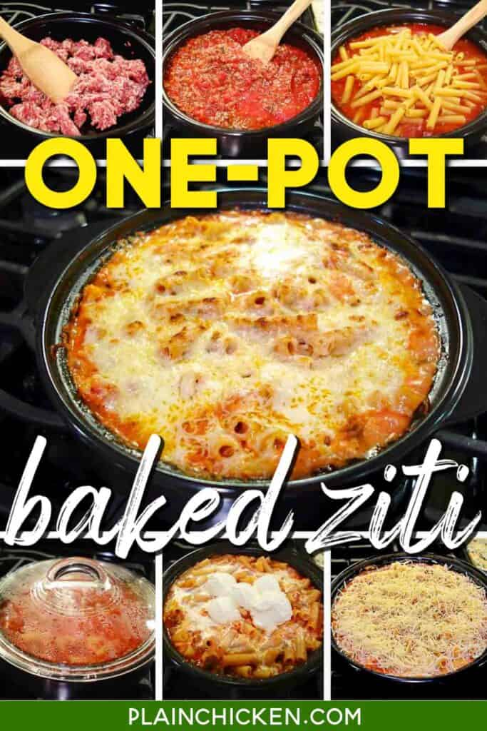 making baked ziti in dutch oven
