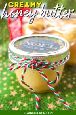 jar of homemade honey butter