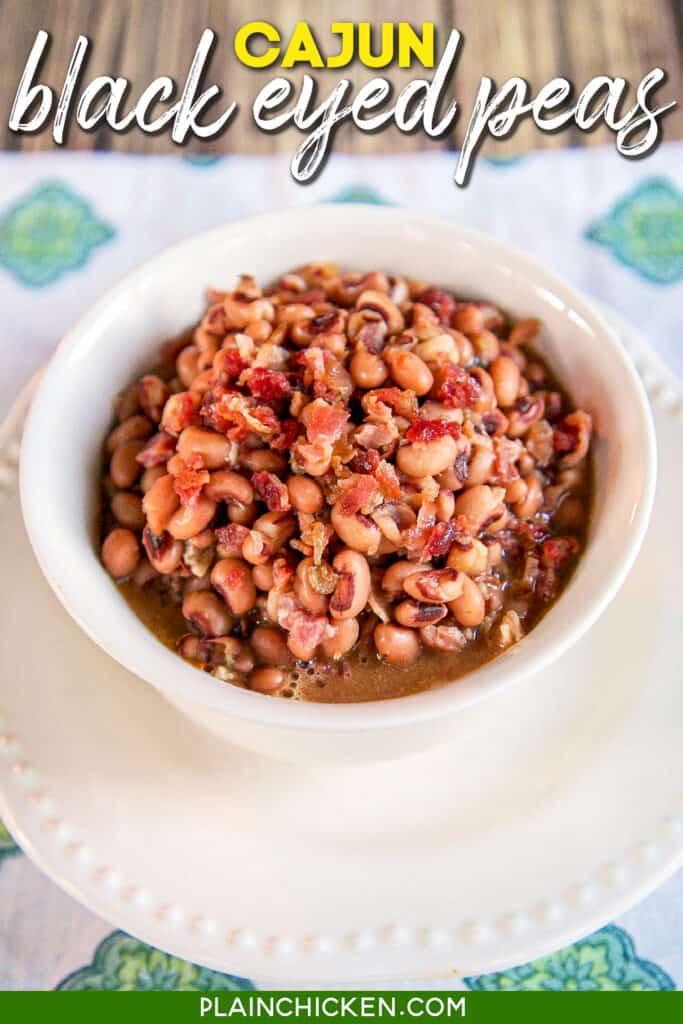 bowl of black eyed peas