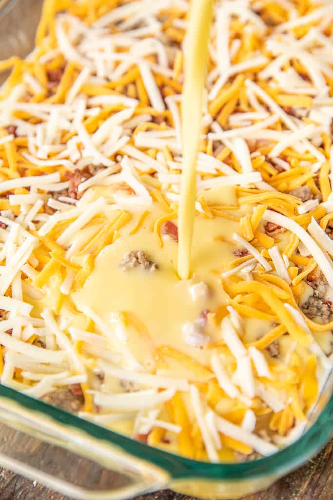 meatlovers pancake puff breakfast casserole