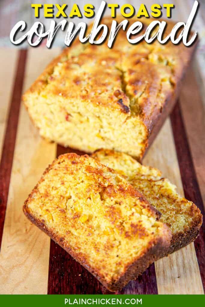 slice of grilled cornbread