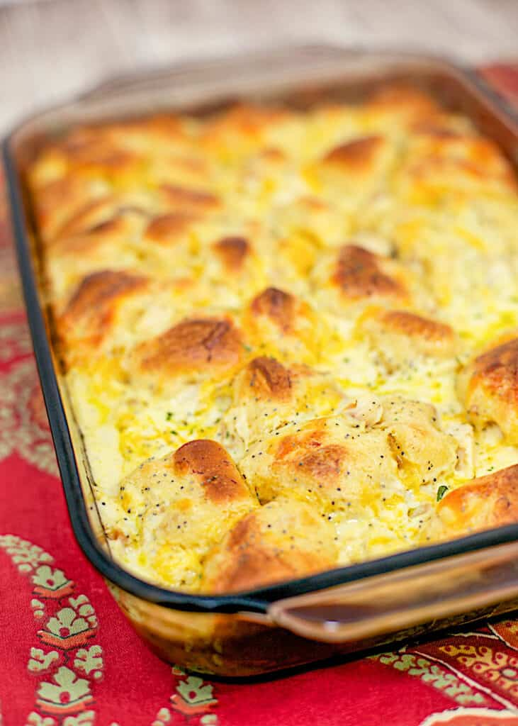 casserole dish of biscuit bubble up