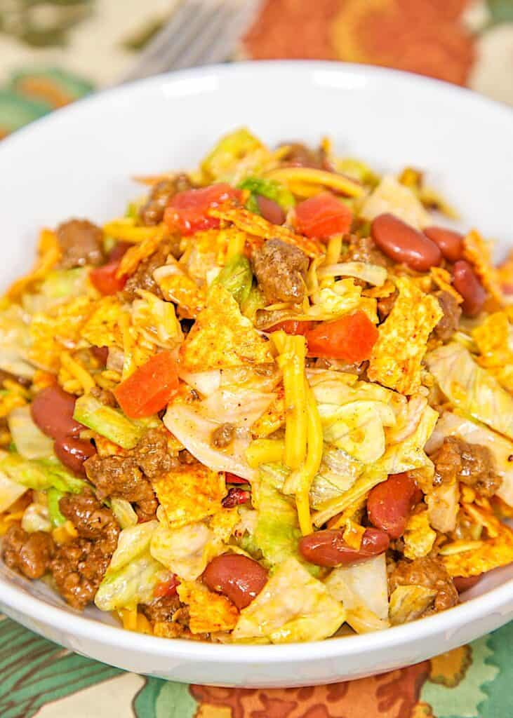 bowl of doritos taco salad