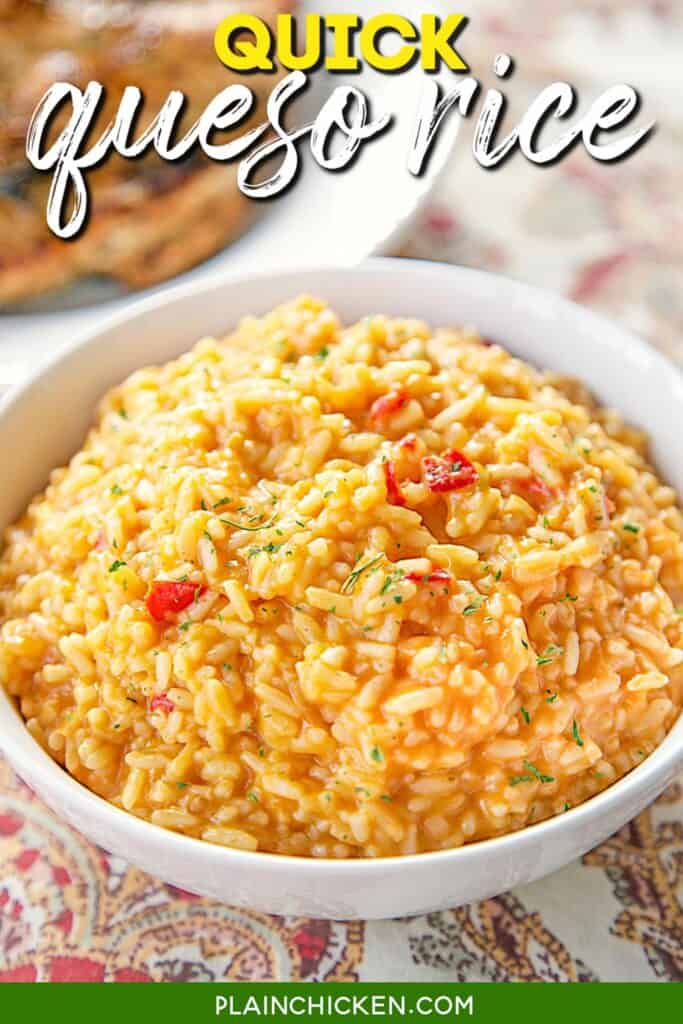 bowl of mexican queso rice
