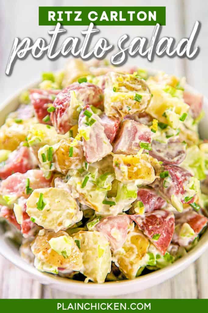bowl of potato saladd