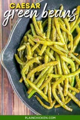 skillet of green beans