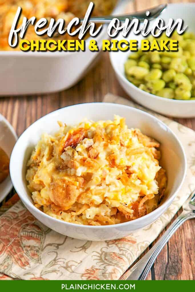 bowl of french onion chicken & rice