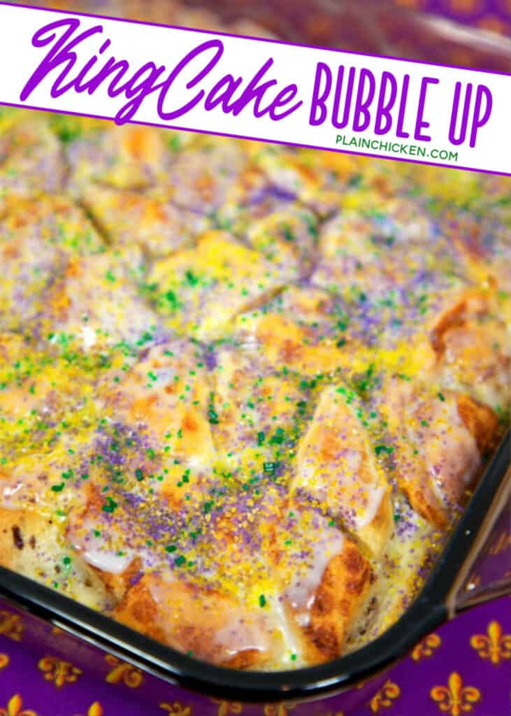 king cake bubble up