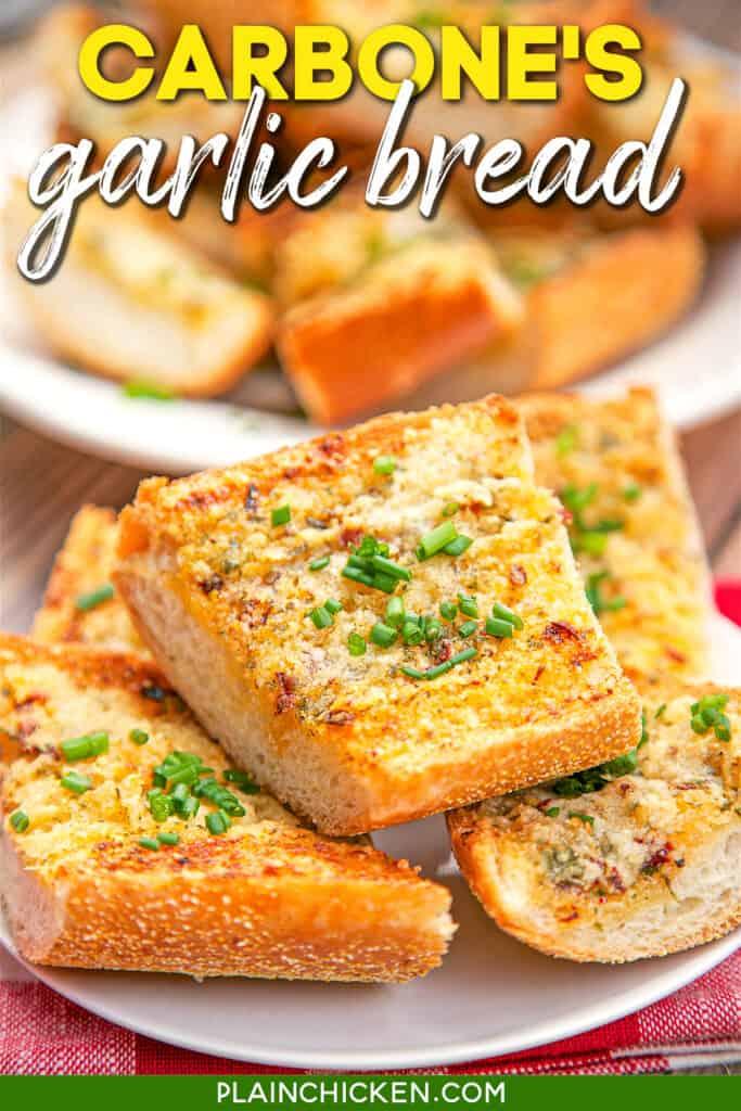 plate of garlic bread