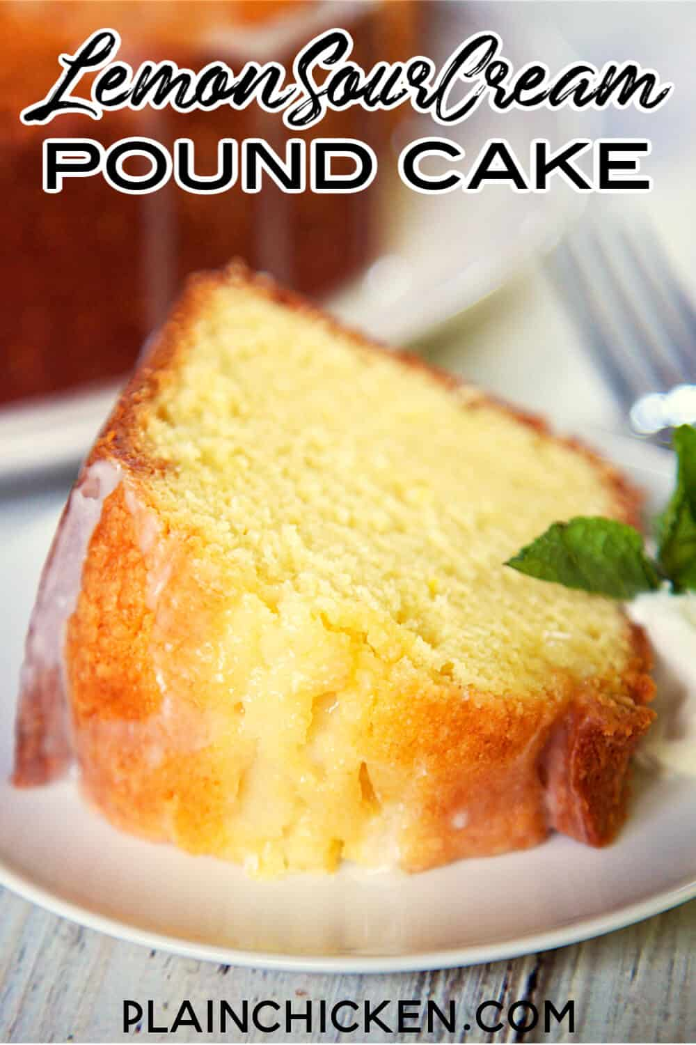 Lemon Sour Cream Pound Cake Plain Chicken