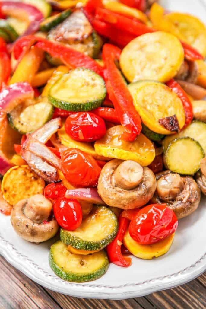 platter of grilled vegetables
