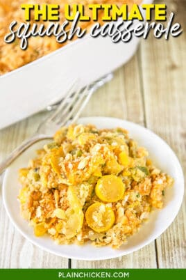 plate of squash casserole