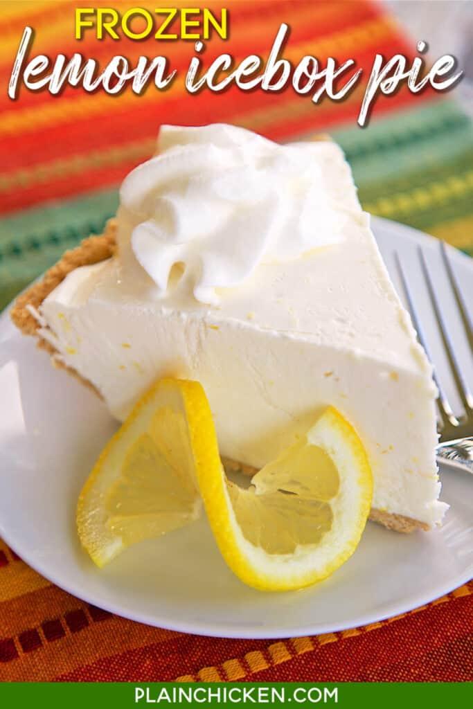 slice of ice cream pie with lemon