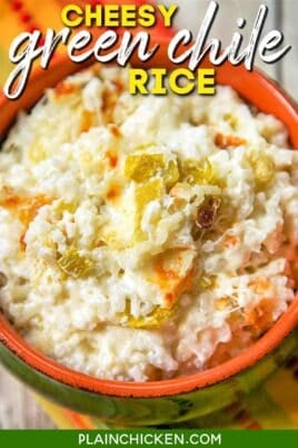 bowl of green chile rice