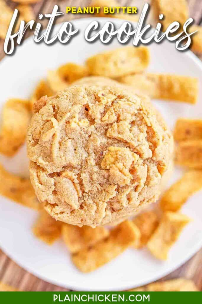 plate of peanut butter frito cookies