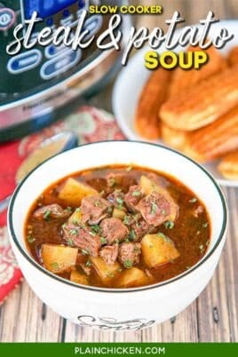 bowl of steak & potato soup
