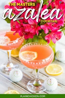 pink cocktail in coupe glass