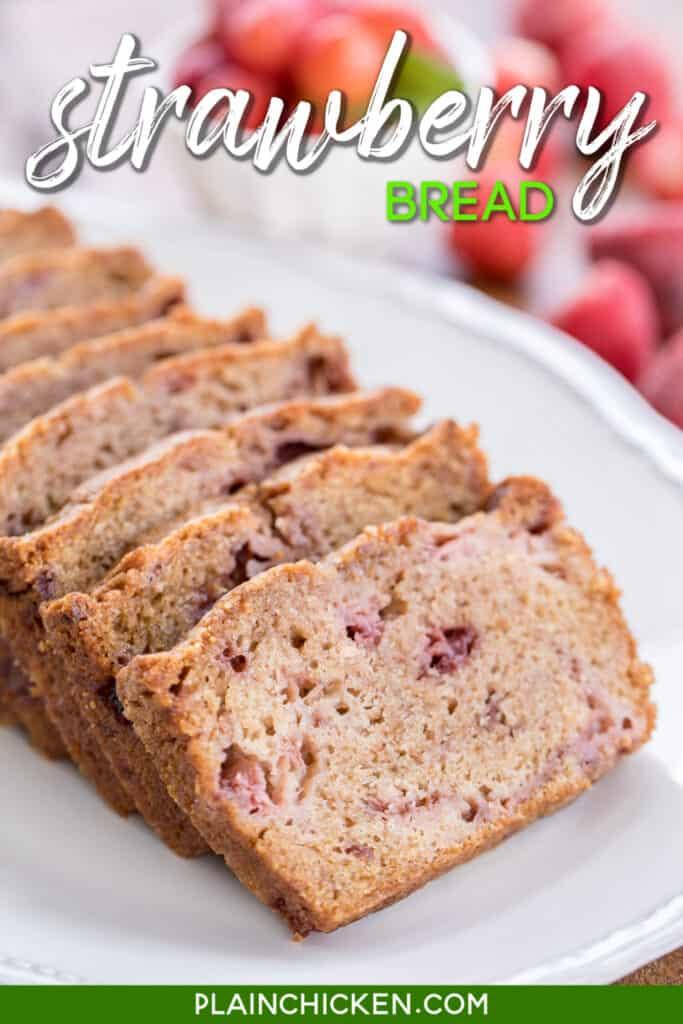 sliced strawberry bread