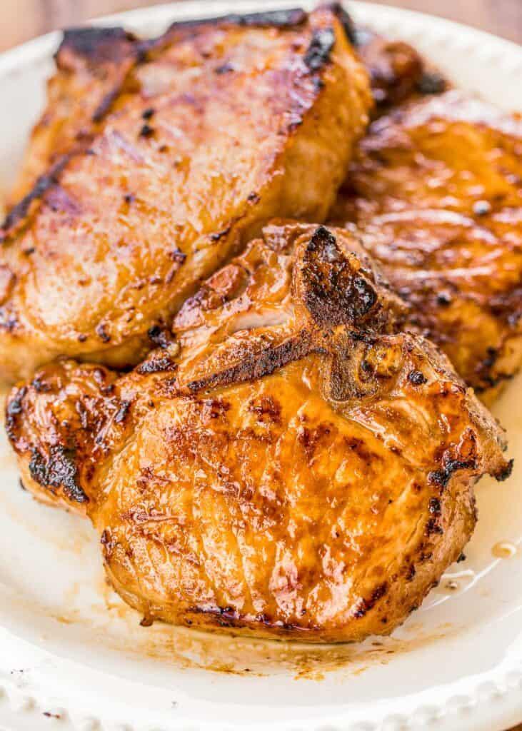 plate of pork chops