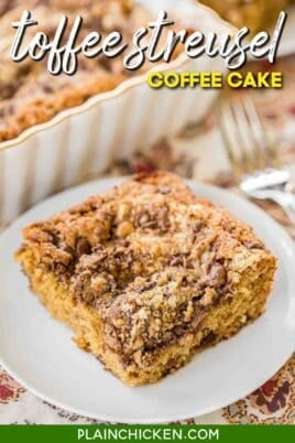 slice of toffee coffee cake