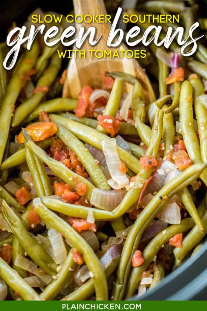 green beans in the slow cooker