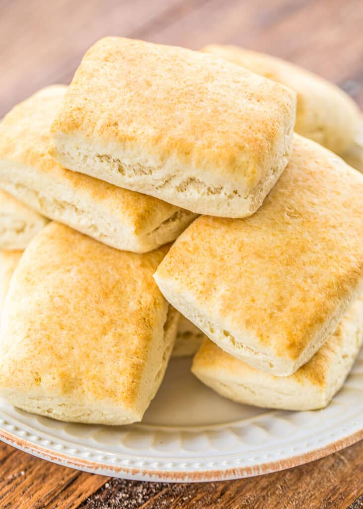 plate of homemade rolls
