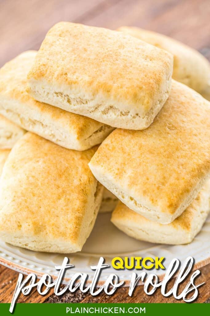plate of homemade rolls