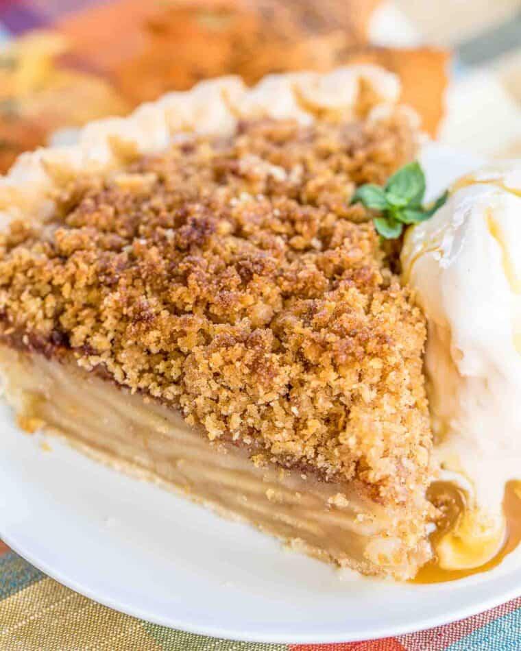 slice of ritz cracker apple pie