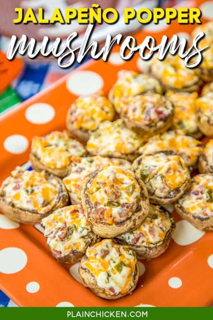 platter of stuffed mushrooms
